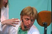 Petr jako MUDr. Svatopluk Novák ve hře Rozpaky zubaře Svatopluka Nováka - r. 2006