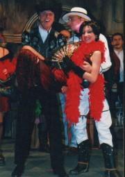 Petr jako padouch Horác ve hře LIMONÁDOVÝ JOE - r. 2002