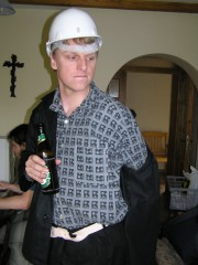 Petr se na soustředění v Mostech u Jablunkova pilně připravoval na svůj velký výstup ve hře /Ž/HAVÍRNA - r. 2007