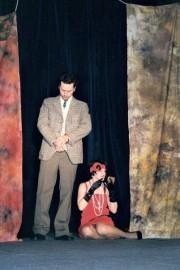 Milka jako proradná Jenny ve hře ŽEBRÁCKÁ OPERA - r. 2003