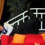 Patrik pózuje před představením ŘEČÍ :)