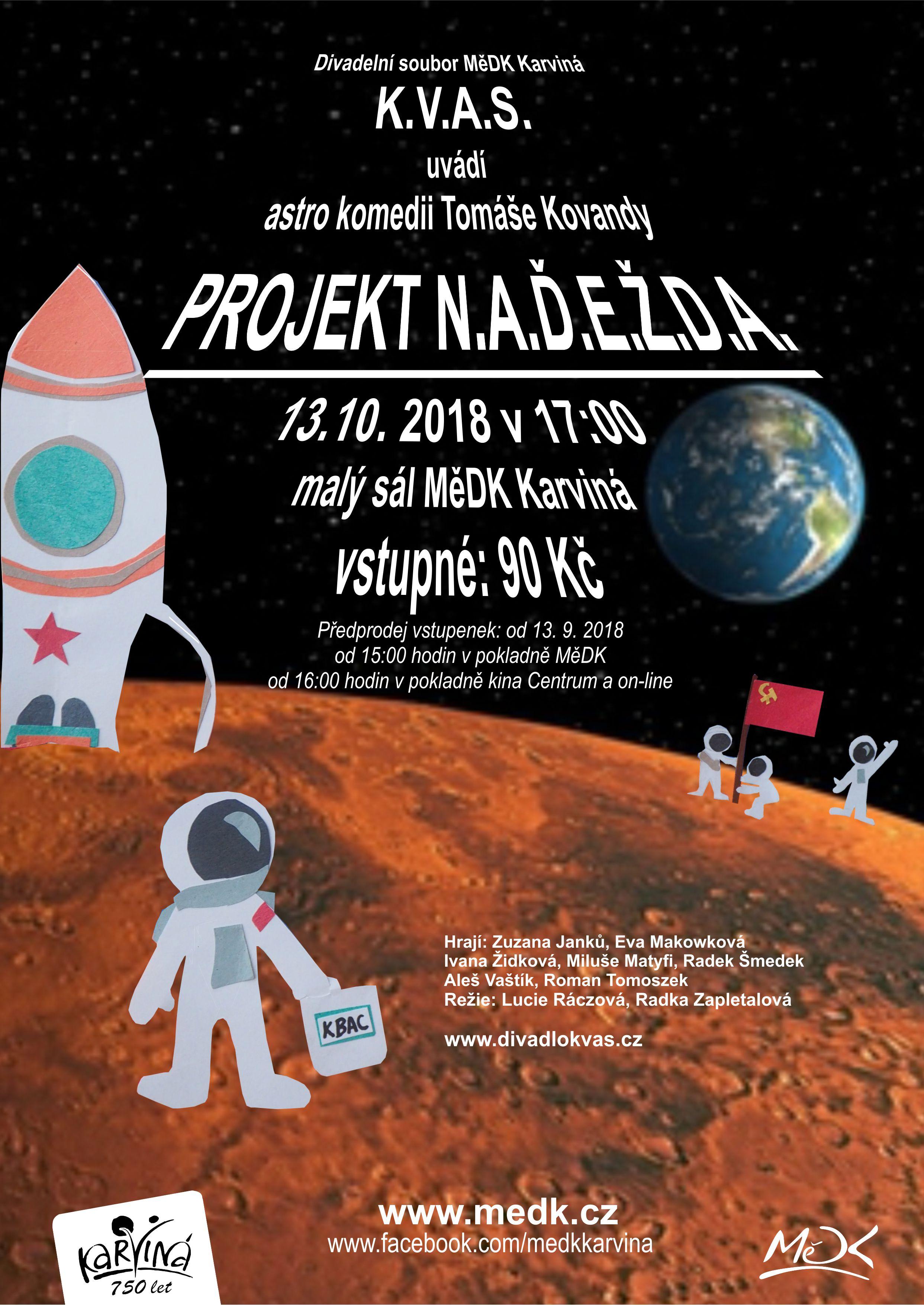 plakát k říjnovému představení